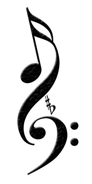 Drawn music notes symbol art #13