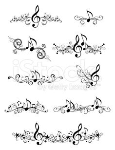 Drawn music notes tiny music Was a music! free Science