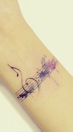 Drawn music notes tiny music  Search heart tattoos #Music