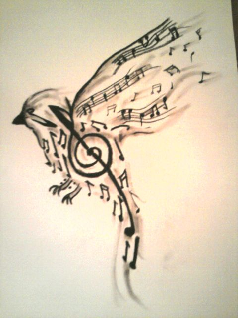 Drawn music notes tiny music Great Music small on and