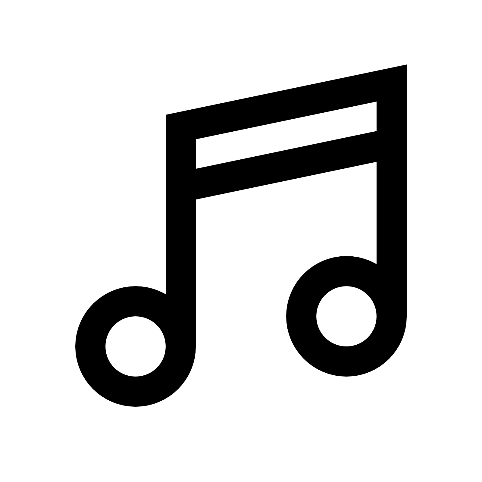 Drawn music notes transparent white Icon Free Icons8 Download Musical