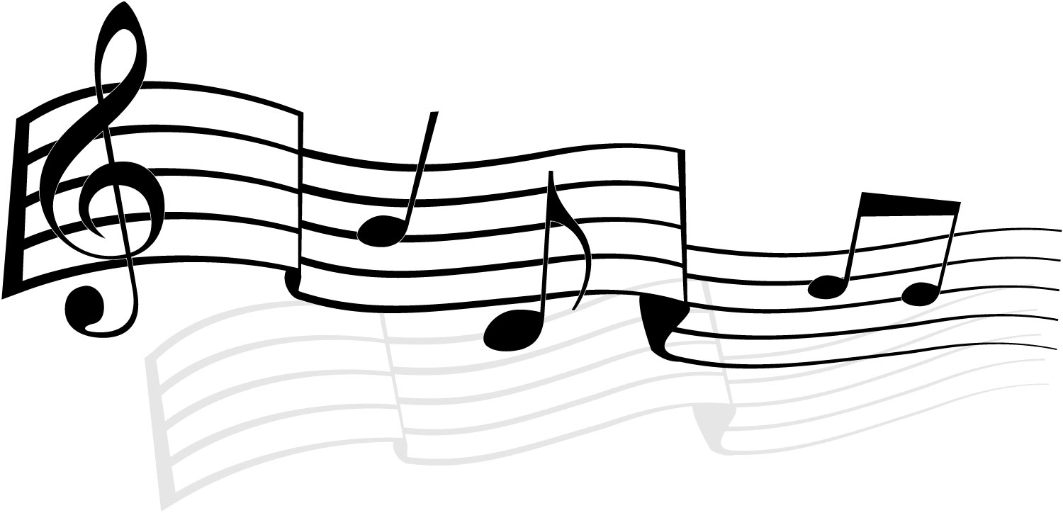 Drawn music notes transparent white Music notes and art black