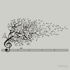 Drawn music notes tree Music Note Pinterest MUSICNOTE Music