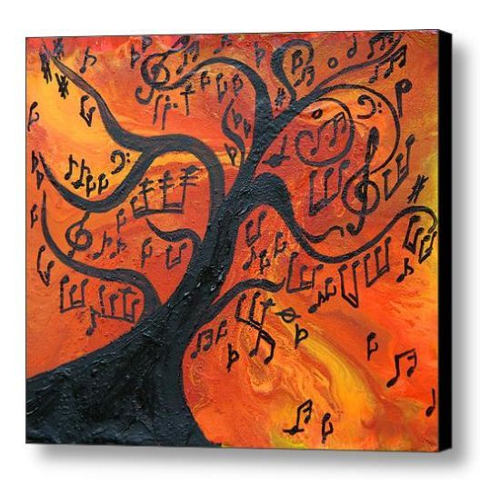 Drawn music notes tree Notes on Tree on Best