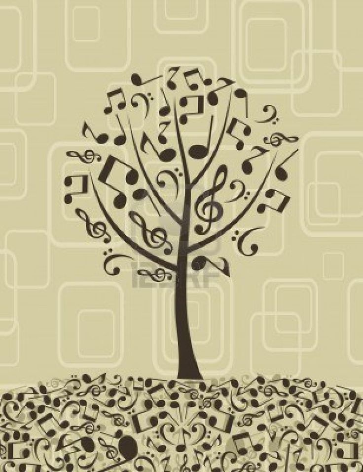 Drawn music notes tree Of Pinterest Music 〰 notes