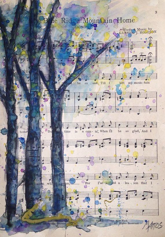 Drawn music notes tree árbol naturaleza pintura music arte