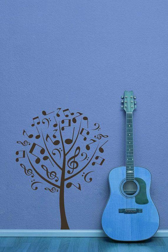 Drawn music notes tree Music Art Decor Music Decal