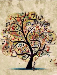 Drawn music notes tree Note this tree @Jennifer want