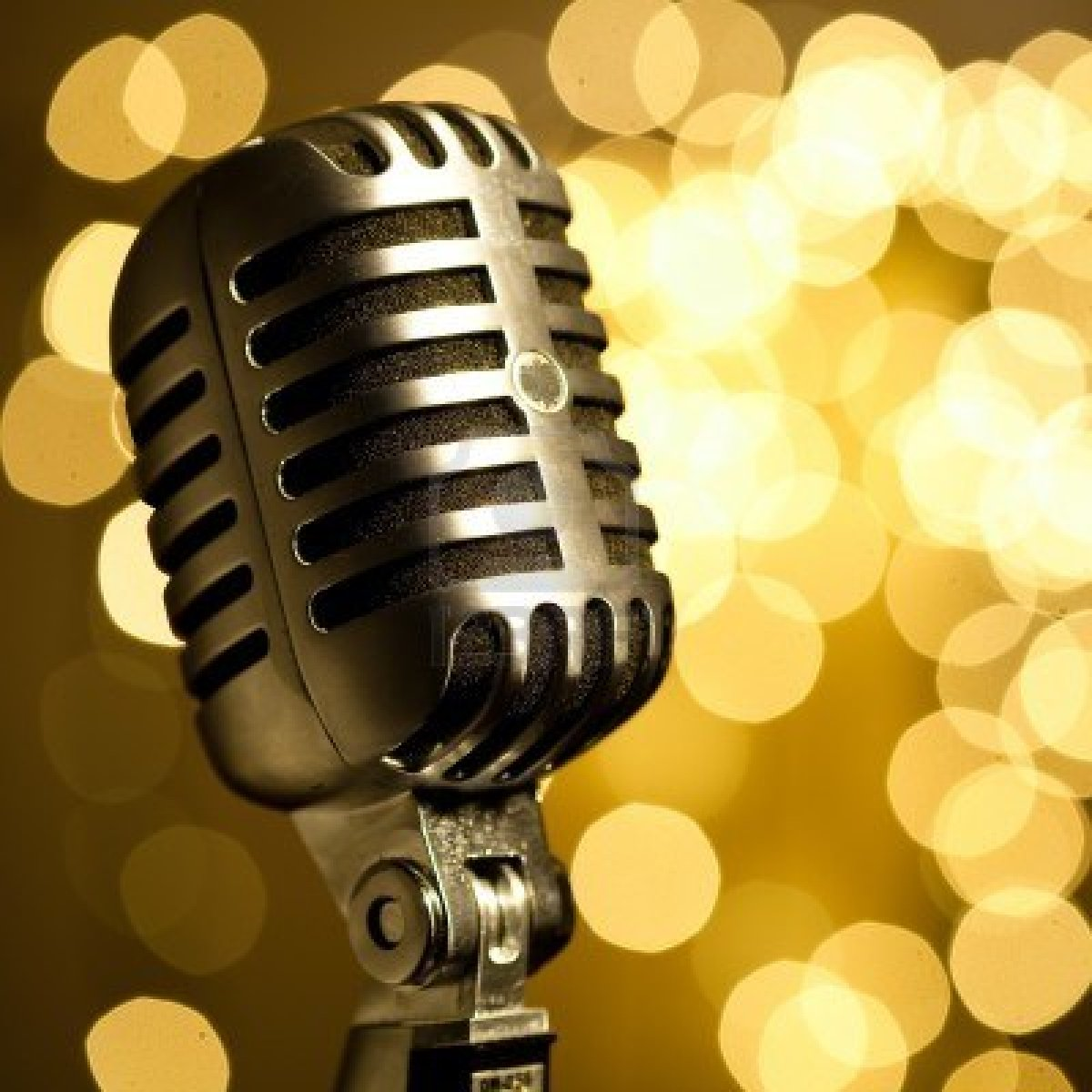 Drawn musician retro microphone Microphone Microphone Vintage Hanging