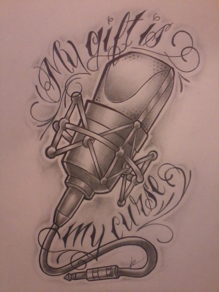 Drawn music music mic Google microphone Design  Microphone