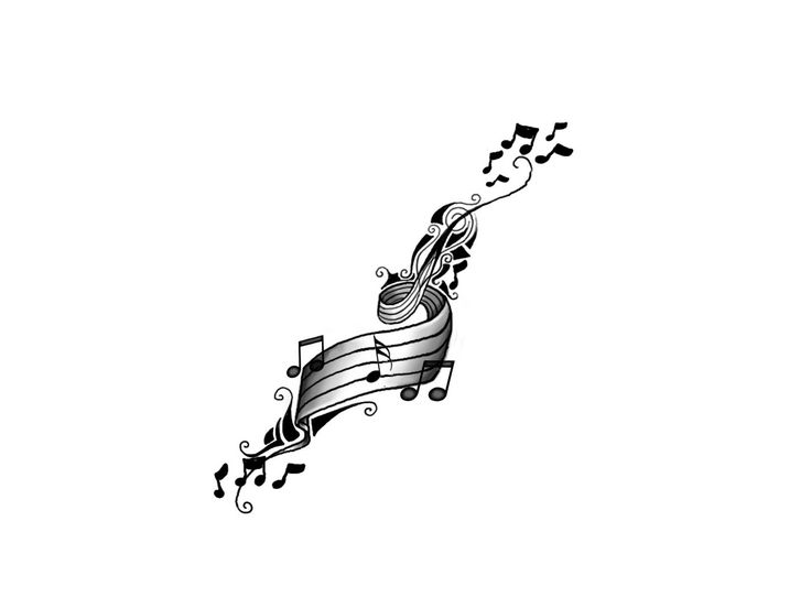 Drawn music notes woman's On  25+ Music ideas