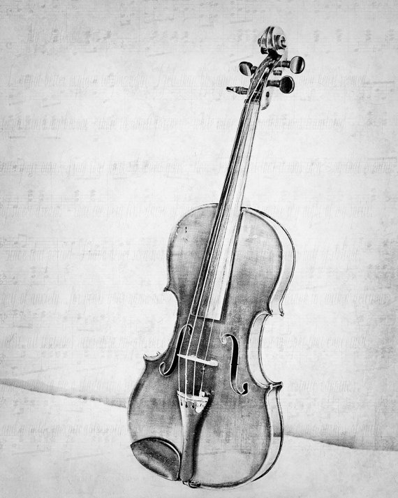 Drawn violinist doodle Art Classical Violin Old Instrument