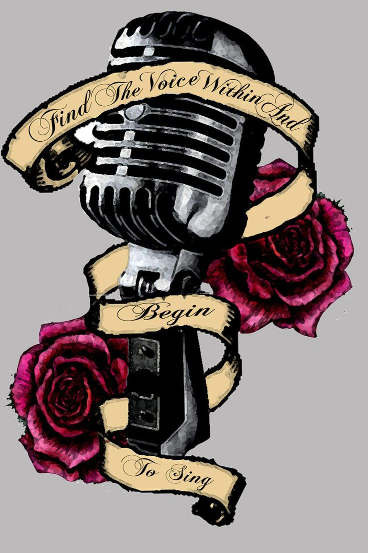 Drawn music old style For Pinterest on Microphone Result