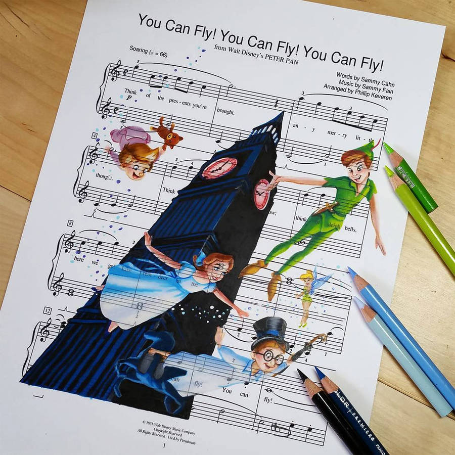 Drawn music paper The The Song Characters Music