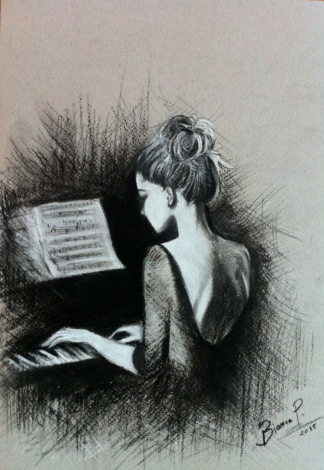 Drawn musician piano Best Drawings Music piano