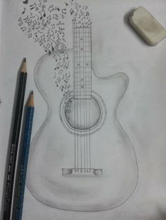 Drawn music pencil drawing Pencil Of more  on