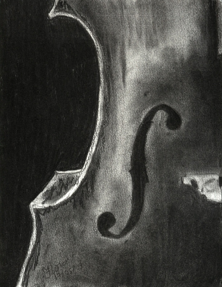 Drawn violin pencil sketch Pinterest Drawing Pencil drawing Drawings