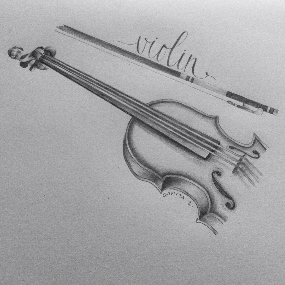Drawn violin doodle Heart keep of – Art