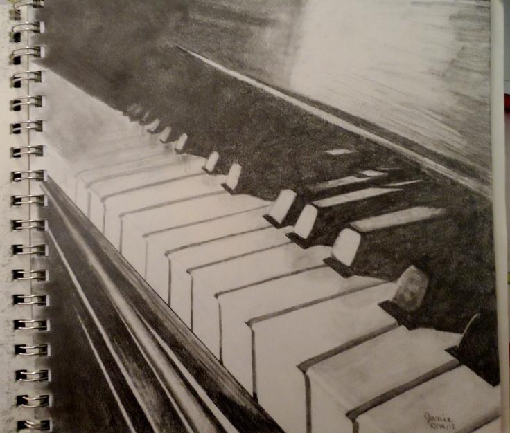 Drawn music piano 33 Pinterest pencil Graphite #music