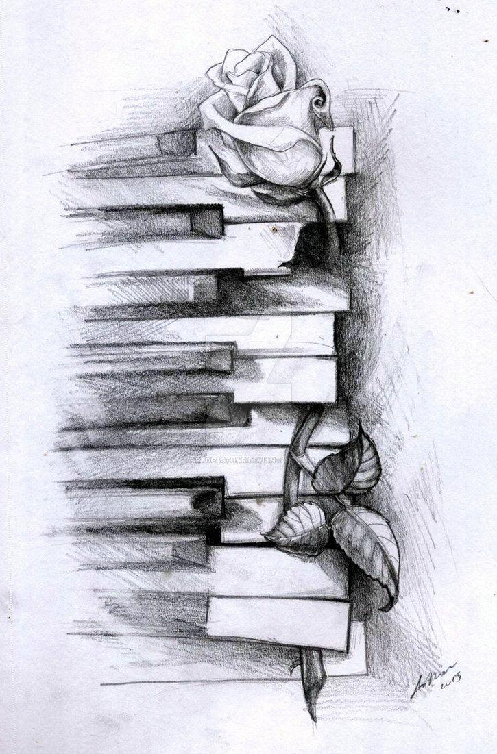 Drawn music piano ArtOfAsthar Pinterest piano Old drawings