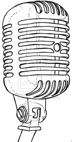 Drawn music retro microphone And Studios drawing Retro Tattoo
