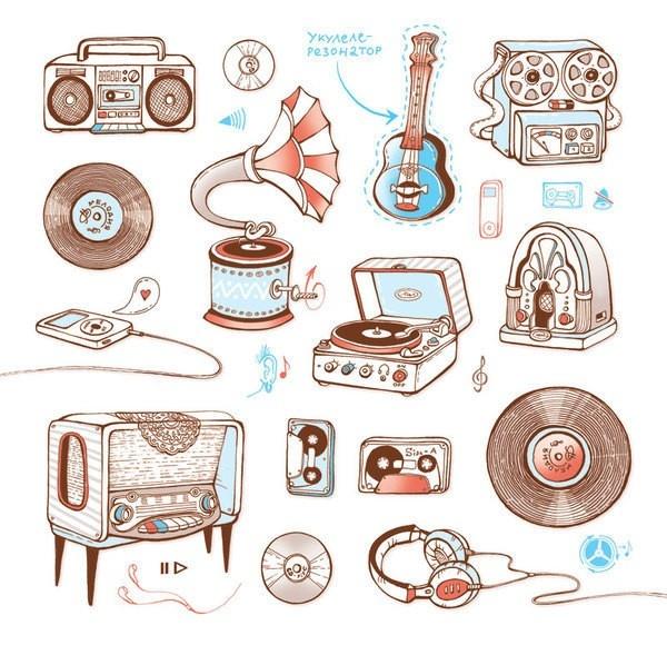Drawn music retro radio Ideas 25+ Study Best on