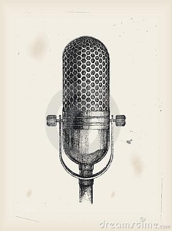 Drawn musician studio microphone Drawing tattoss Pinterest Microphone Microphone