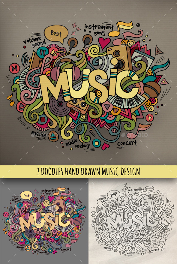 Drawn music twitter backgrounds Music Friendster MySpace for Layouts