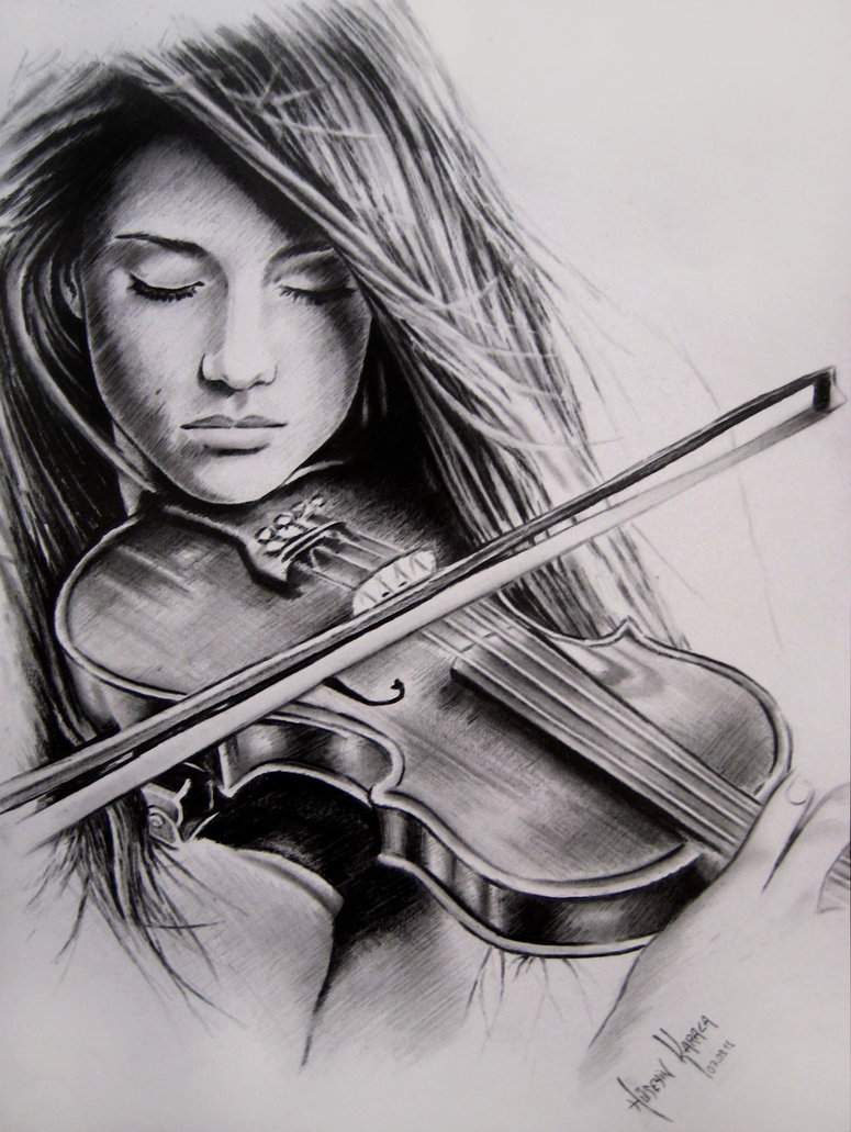 Drawn music violin playing And Playing my violin confidence