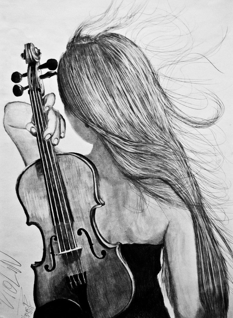 Drawn music violin playing Maarel Violin DeviantArt Maarel Violin