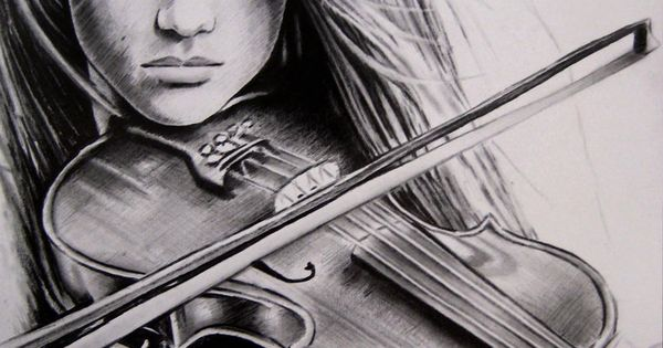 Drawn music violin playing And Moda me Playing confidence