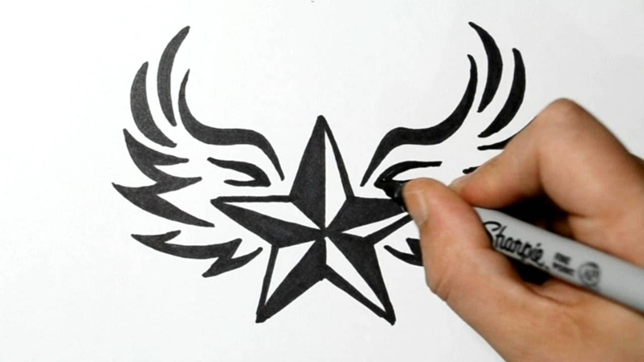 Drawn star easy Star Style Draw a YouTube