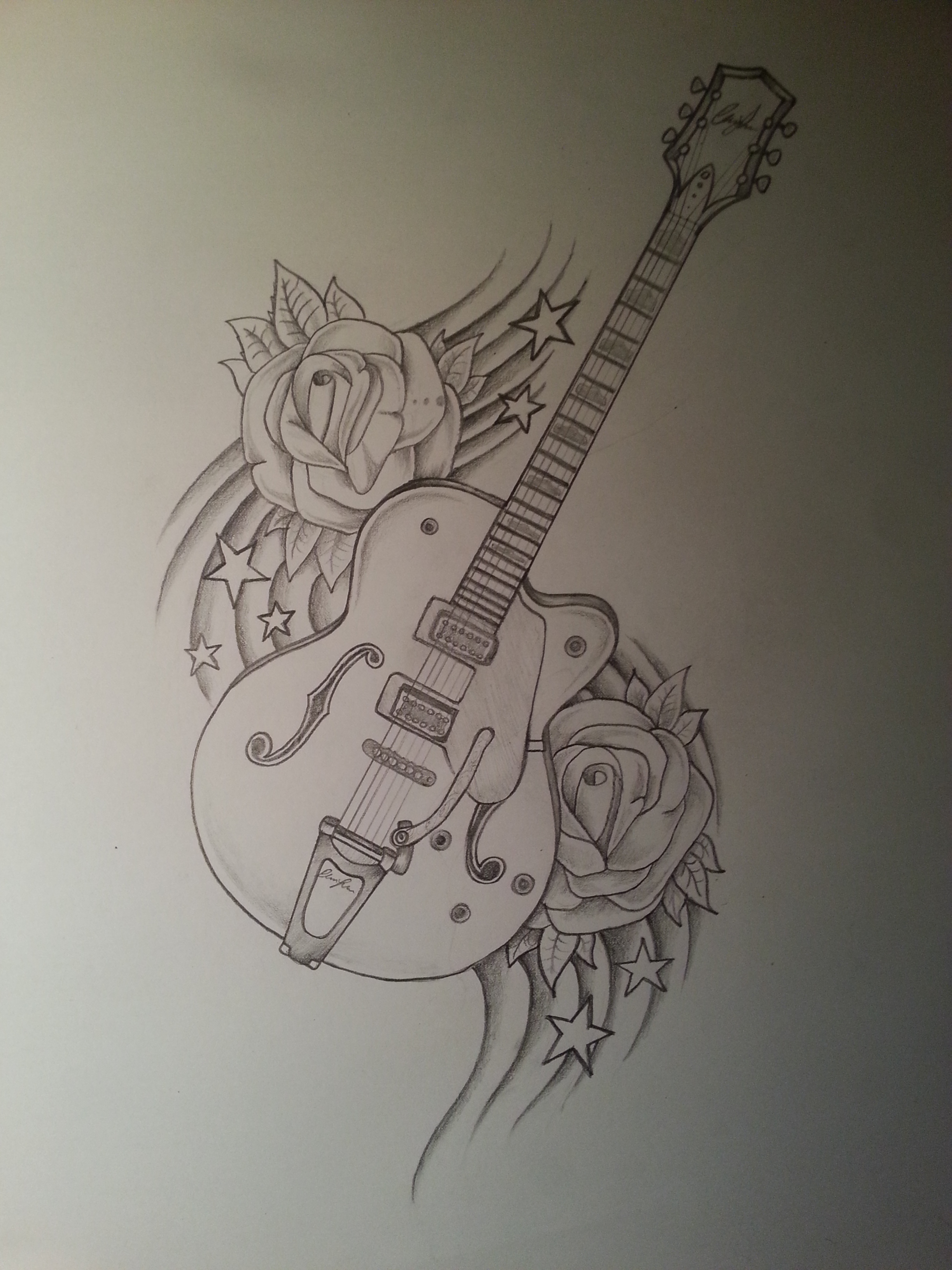 Drawn musician beautiful music Drawing Guitar drawing Guitar Drawings