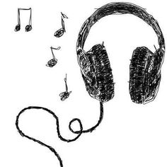 Drawn musical cute Drawings música Etsy Anime Love