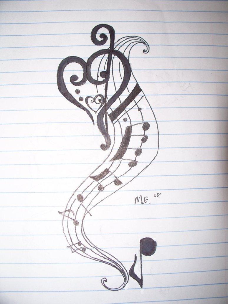 Drawn musical cute Tattoos tattoos tattoos music musical