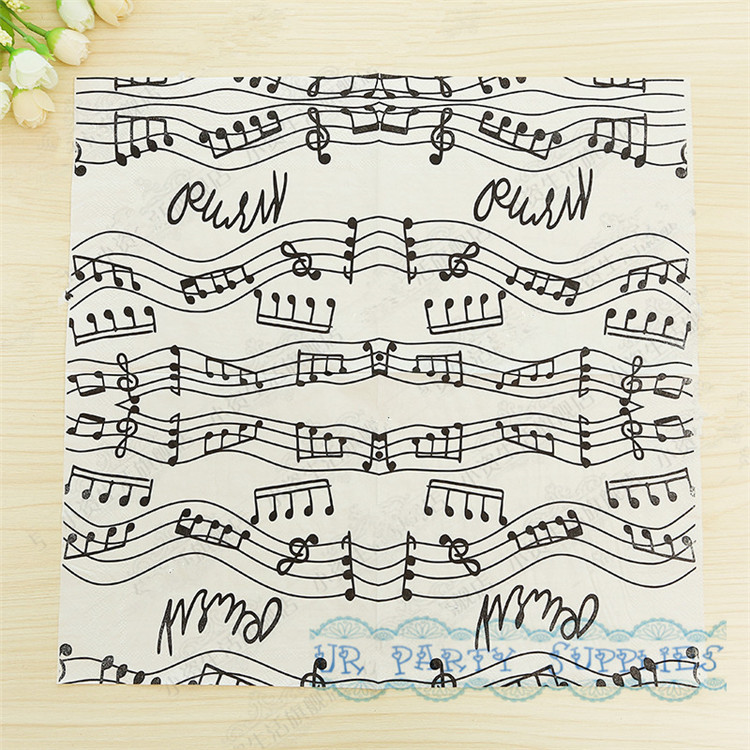 Drawn musical lined paper Lined Line for 33x33cm Birthday
