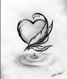 Drawn hearts pencil drawing Music Find Pinterest more ♡