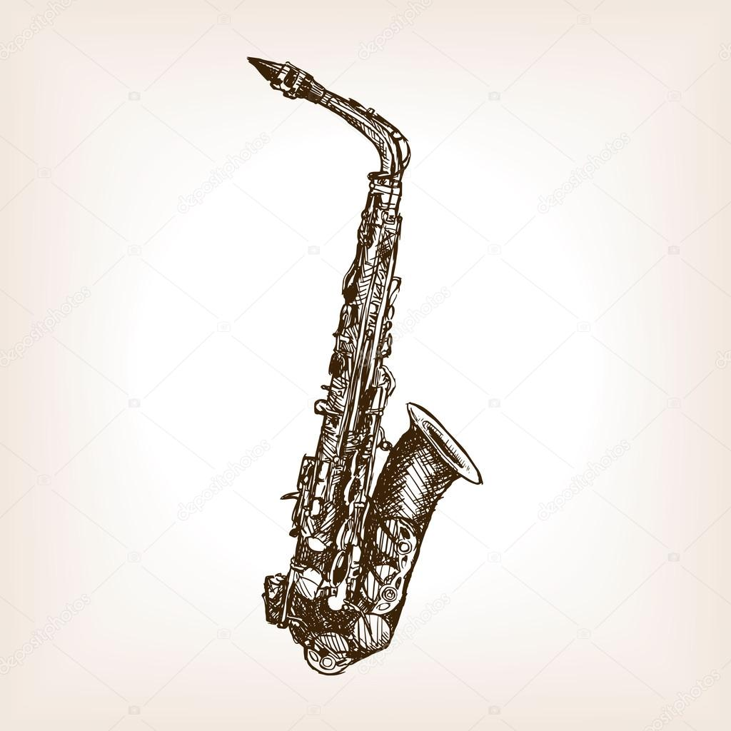 Drawn musical old style Stock style vector style