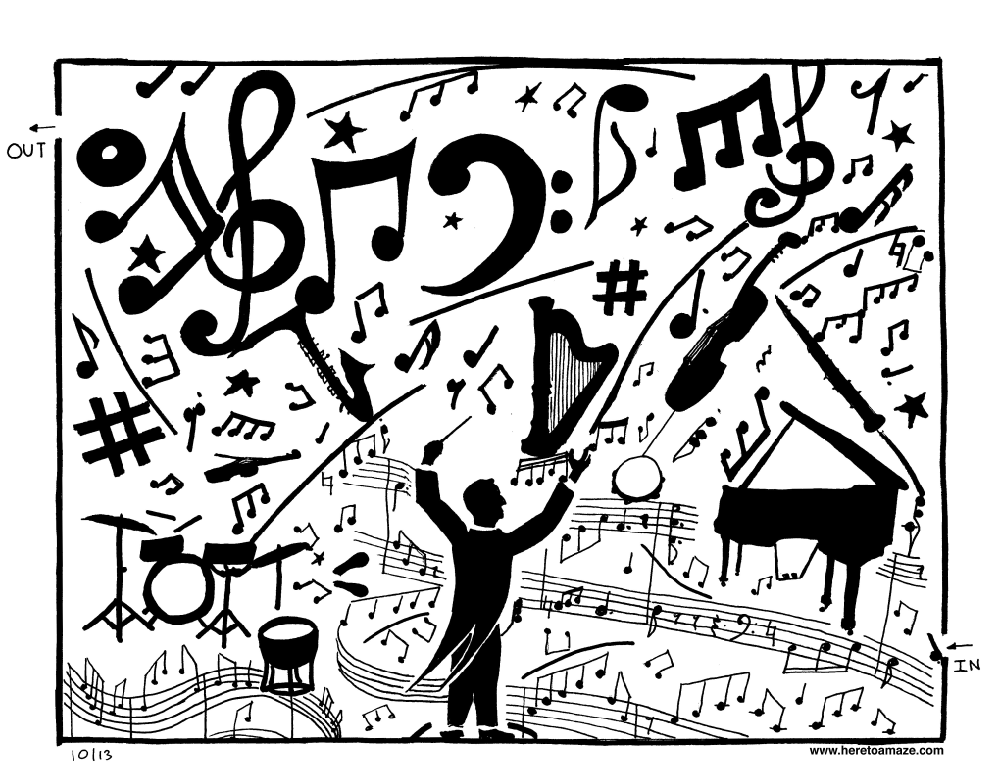 Drawn musical orchestra To Here Orchestra Maze »