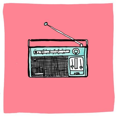 Drawn musical retro radio Radio best 359 music on