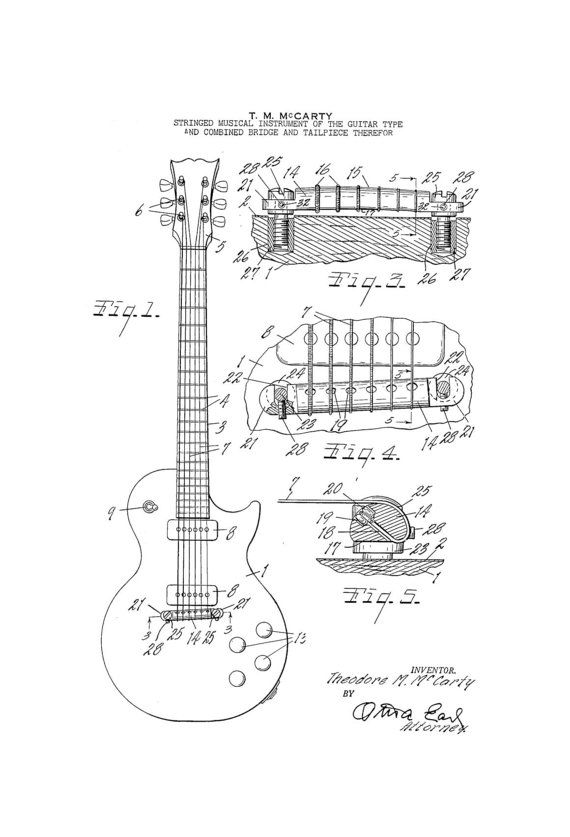 Drawn musician 50's Order Guitar Mazza Custom on