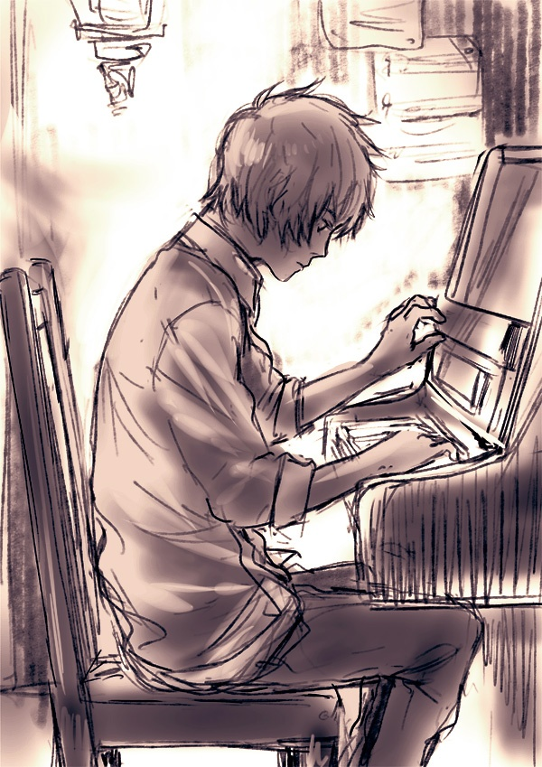 Drawn piano piano playing House be Pinterest trough on