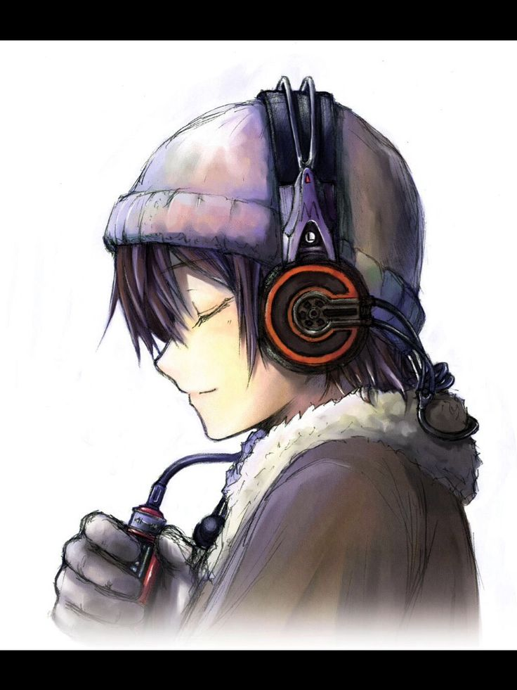 Drawn headphones On images about Find With