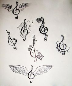 Drawn musician awesome Designs treble cool and clef