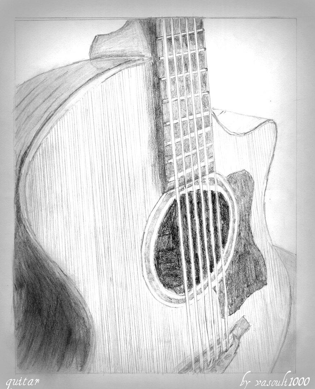 Drawn musician awesome Dibujo Very Pinteres… lapiz guitarra