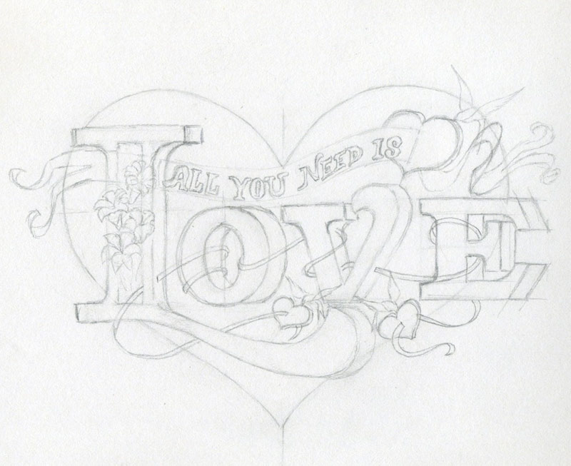 Drawn musician beautiful heart Click enlarge Learn Heart to