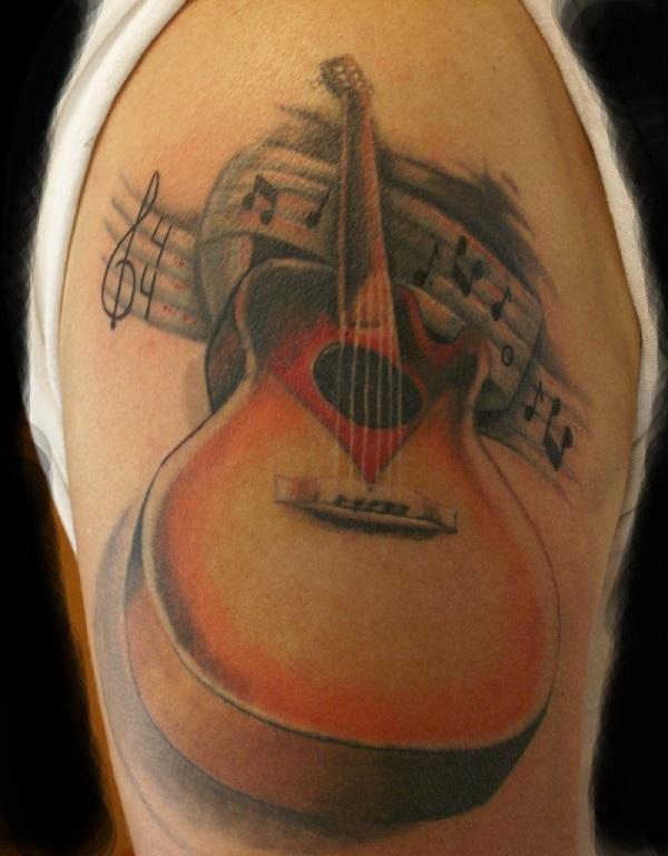 Drawn musician beautiful heart Inked Simple tattoo Inspirational as
