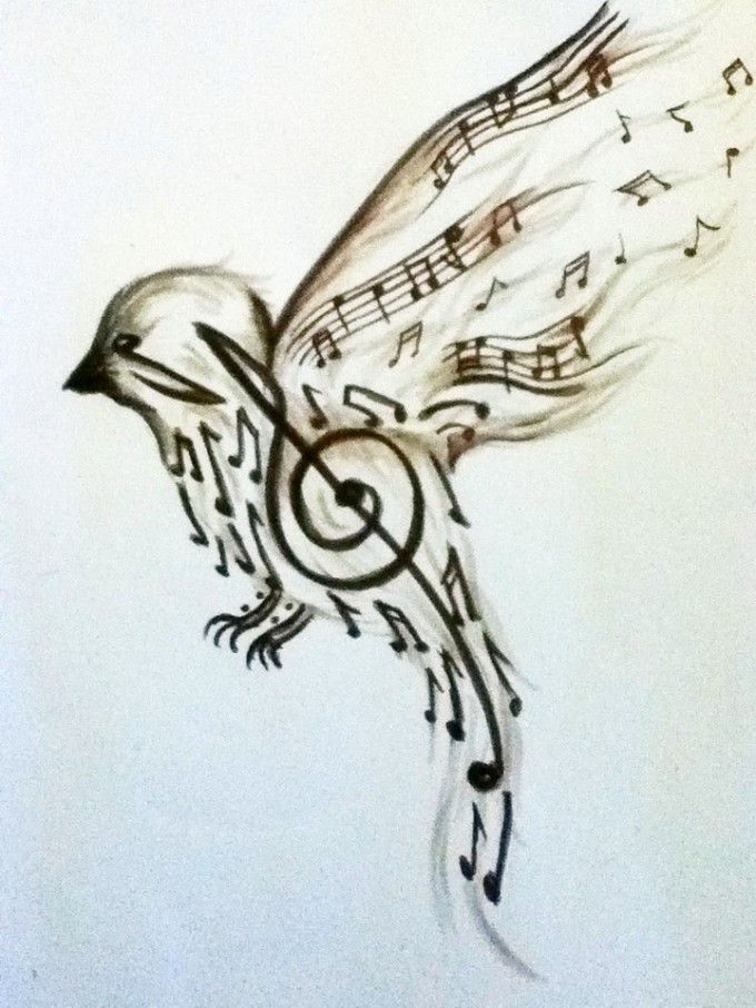 Drawn music lover 55+ on Tattoos Music musical