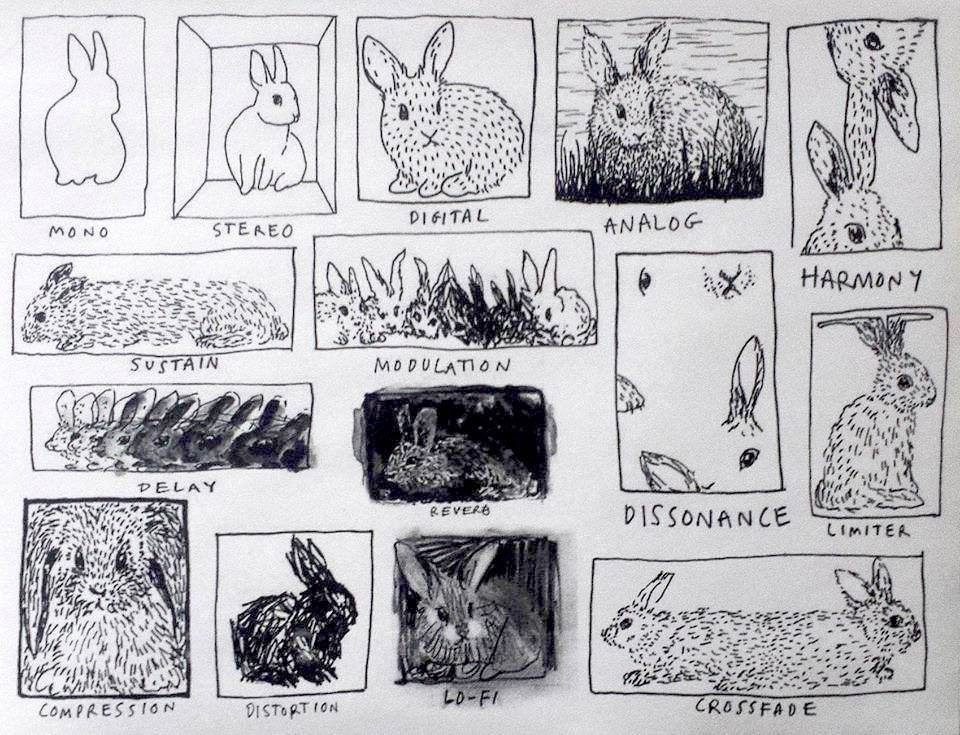 Drawn musician bunny Basic explained terms :D Music
