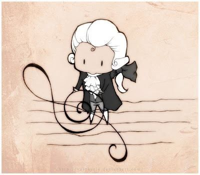 Drawn musical classic Mozart Pin Pinterest Mozart 76